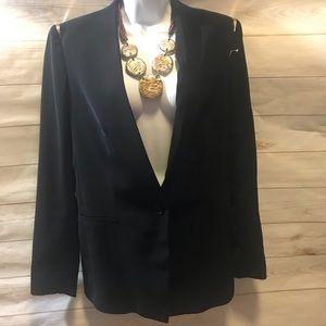 Zara Black Blazer with Gold Caps on Shoulder. Sz L
